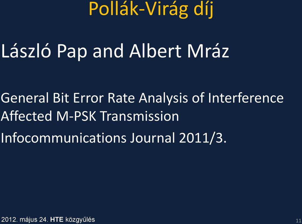Interference Affected M-PSK