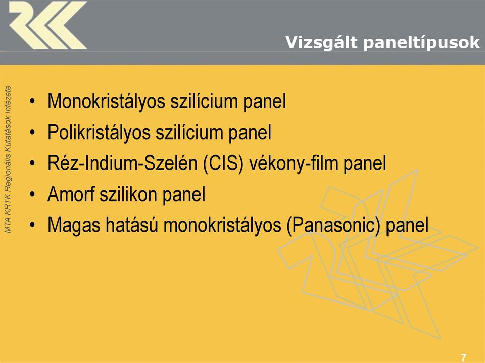 Réz-Indium-Szelén (CIS) vékony-film panel Amorf