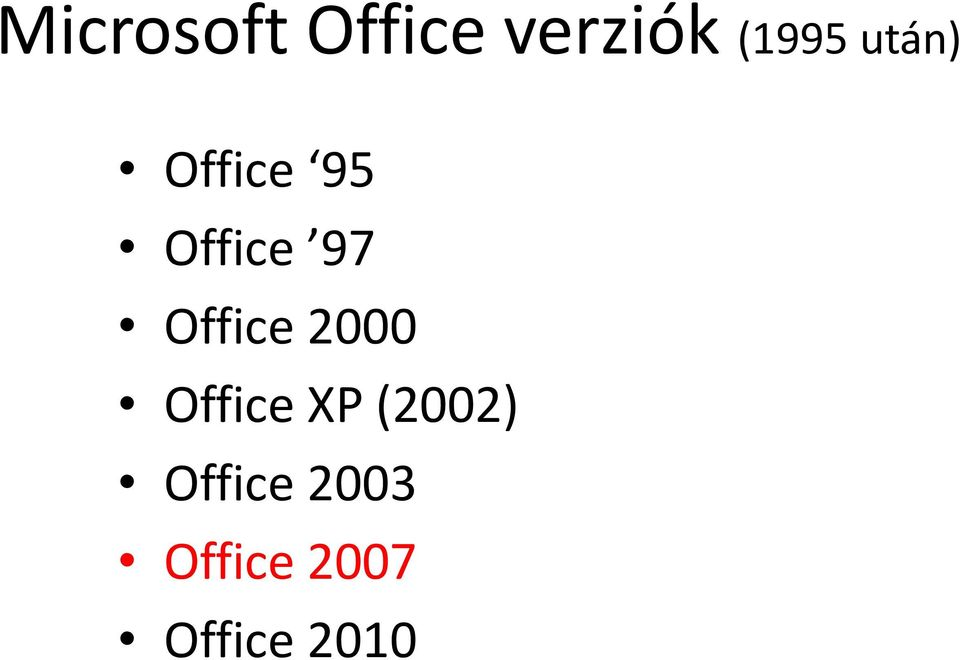 Office 2000 Office XP (2002)