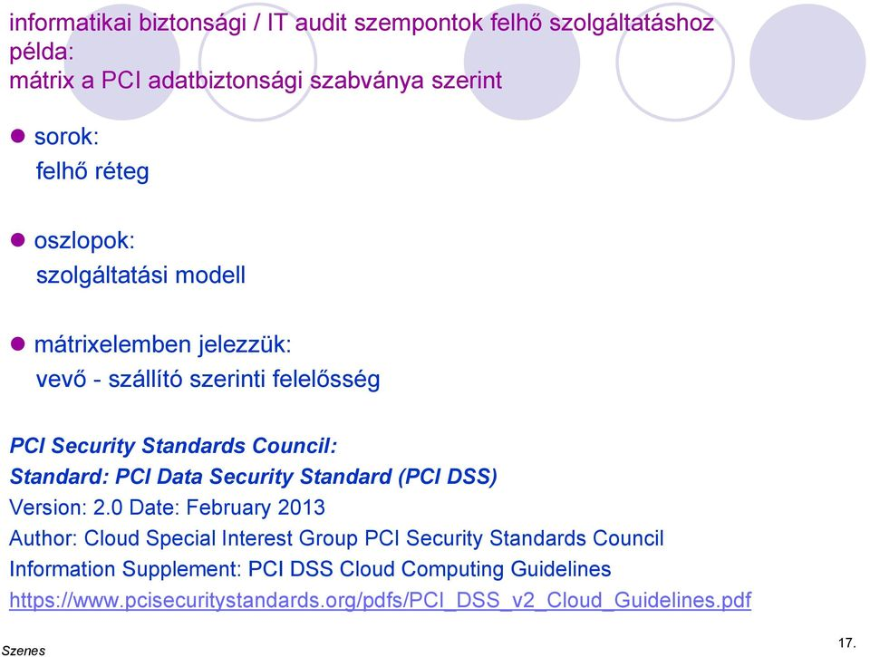 Standard: PCI Data Security Standard (PCI DSS) Version: 2.