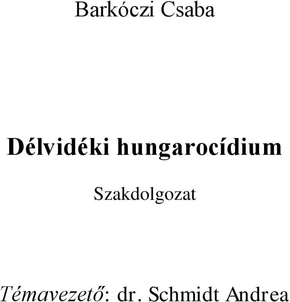hungarocídium