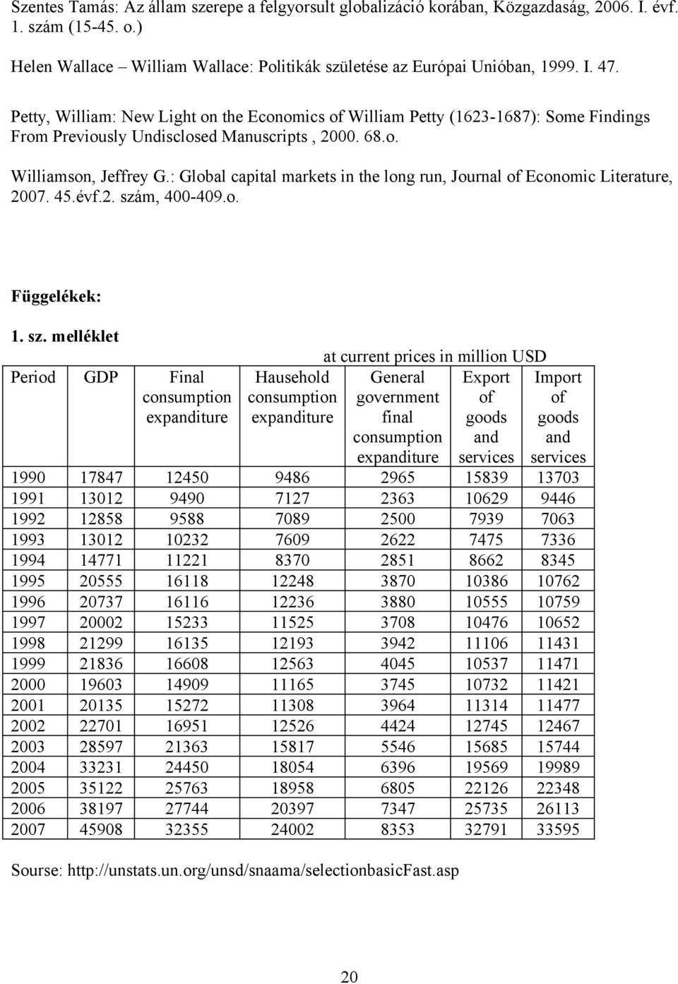 : Global capital markets in the long run, Journal of Economic Literature, 2007. 45.évf.2. szá