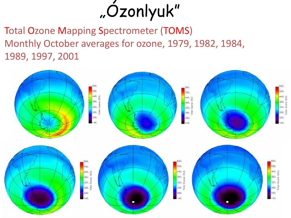 October averages for ozone,