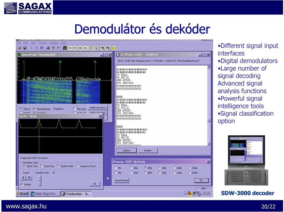 decoding Advanced signal analysis functions Powerful signal