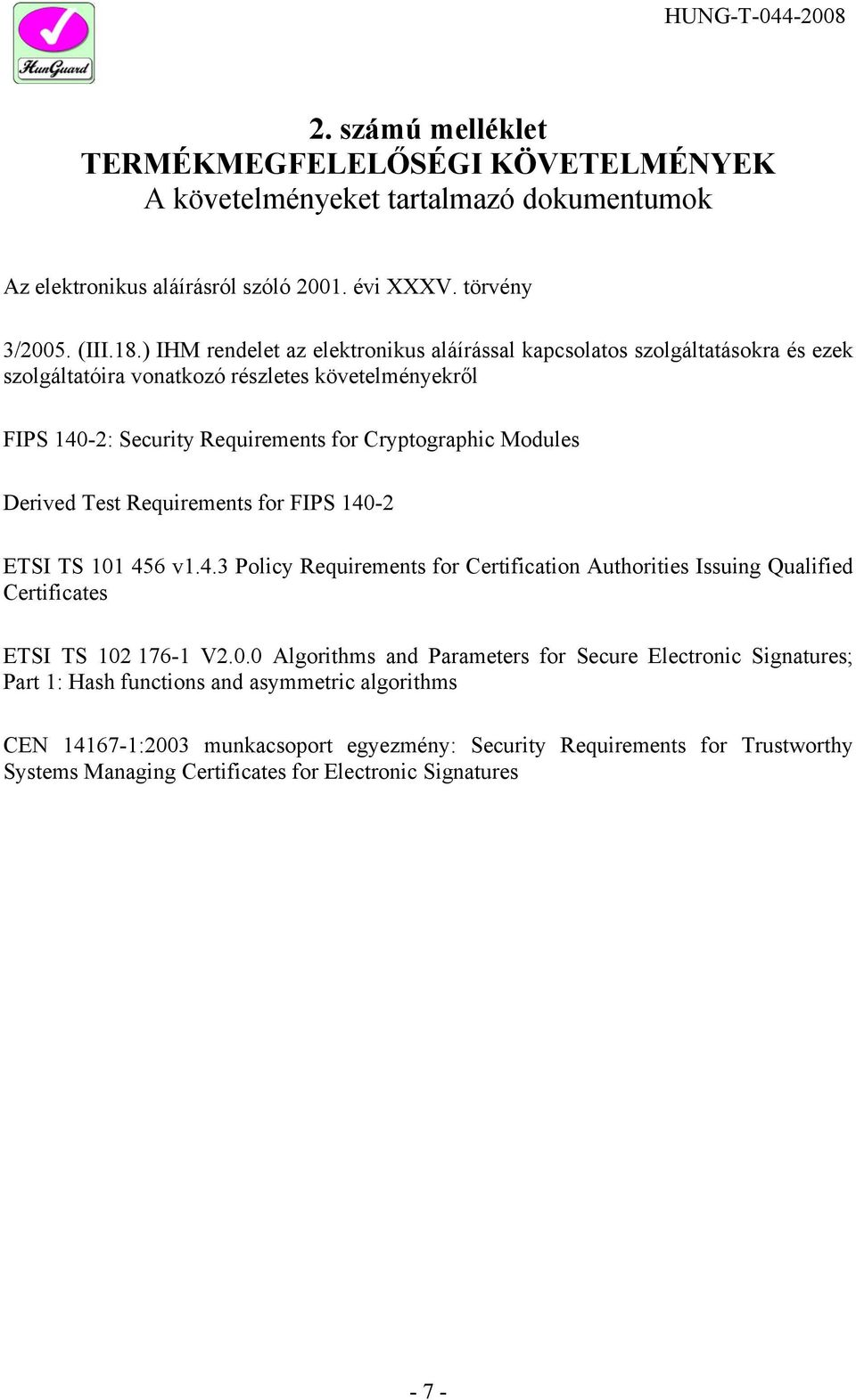 Derived Test Requirements for FIPS 140-