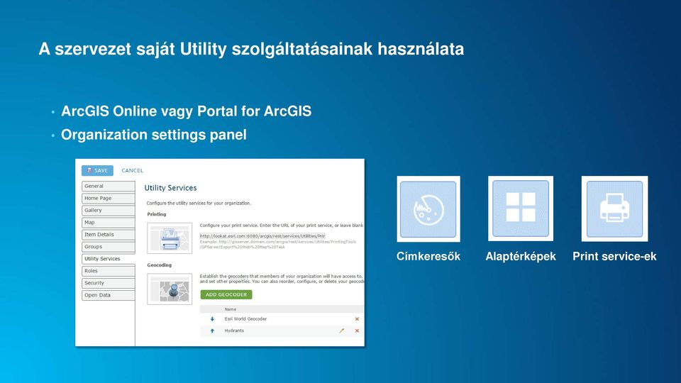 Online vagy Portal for ArcGIS