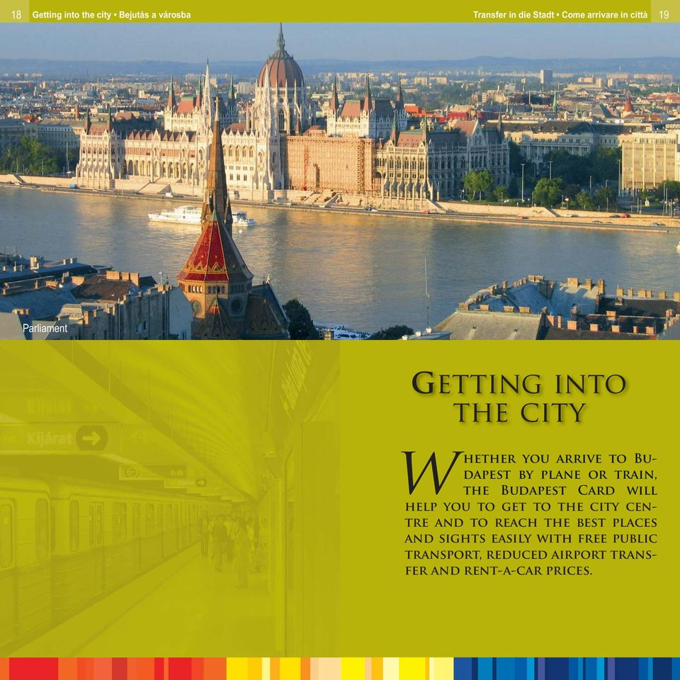 the Budapest Card will help you to get to the city centre and to reach the best places