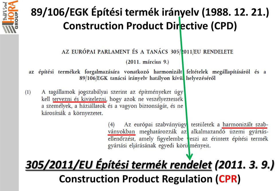) Construction Product Directive (CPD)
