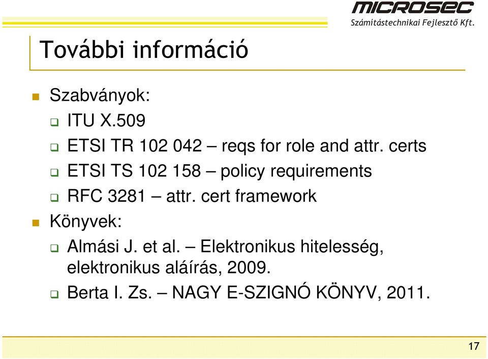 certs ETSI TS 102 158 policy requirements RFC 3281 attr.