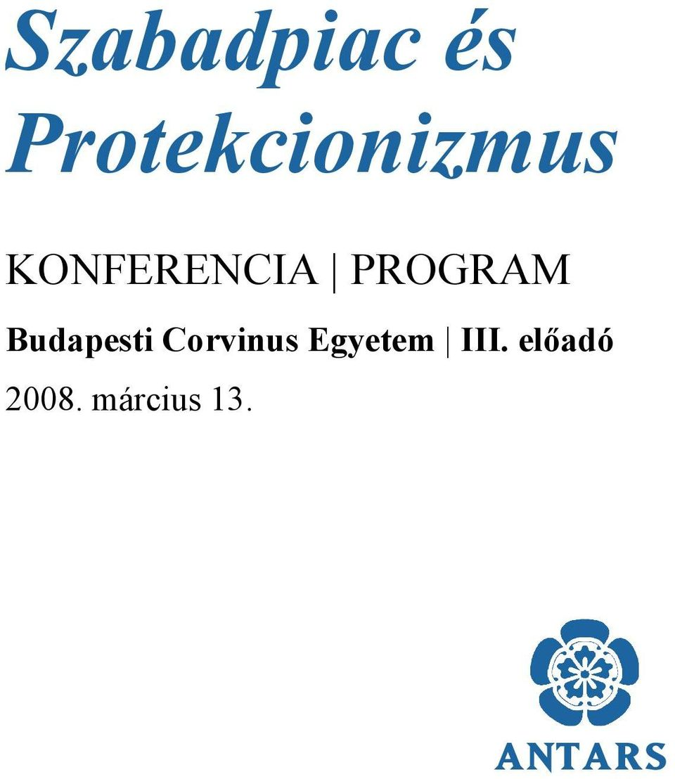 PROGRAM Budapesti Corvinus