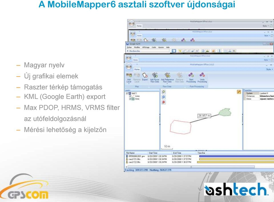 KML (Google Earth) export Max PDOP, HRMS, VRMS