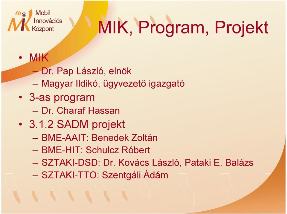 program Dr. Charaf Hassan 3.1.