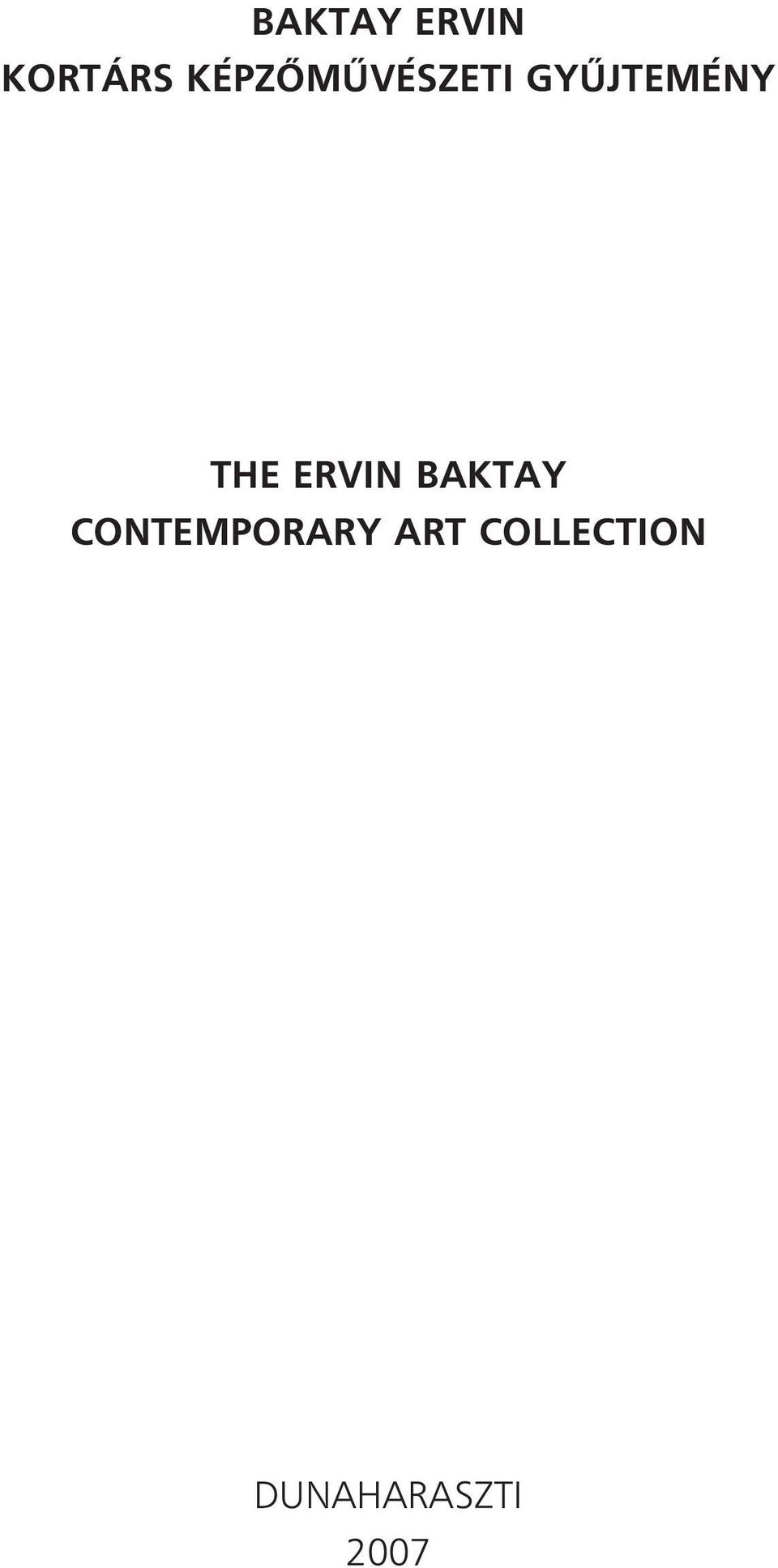 THE ERVIN BAKTAY