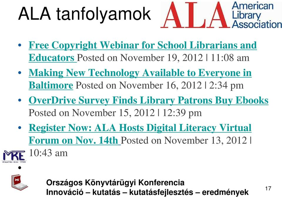 2:34 pm OverDrive Survey Finds Library Patrons Buy Ebooks Posted on November 15, 2012 12:39 pm