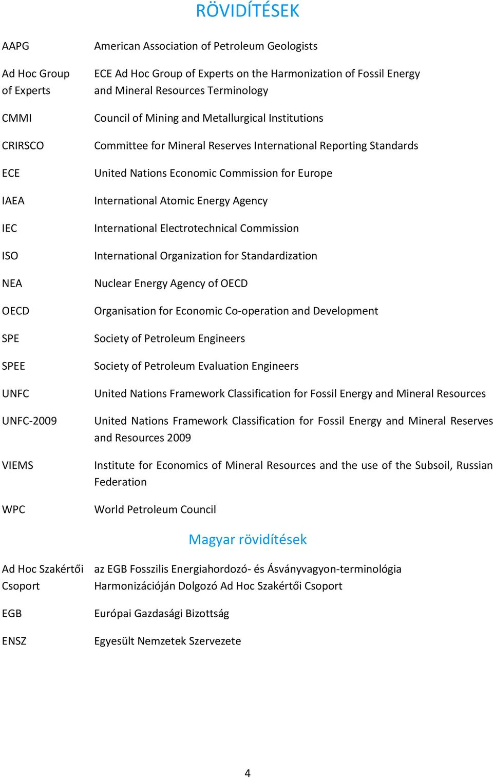 Economic Commission for Europe International Atomic Energy Agency International Electrotechnical Commission International Organization for Standardization Nuclear Energy Agency of OECD Organisation