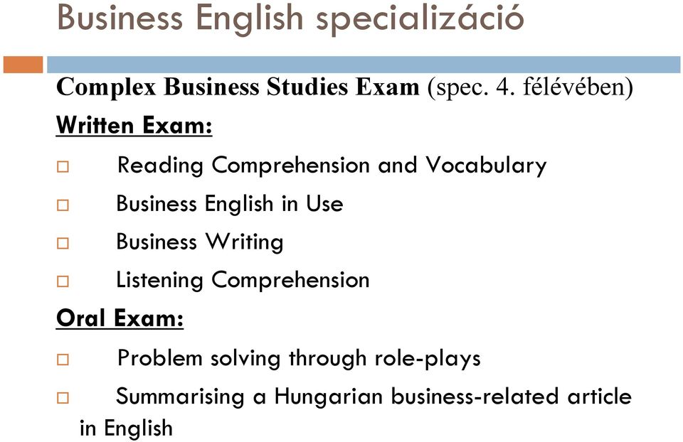 Business English in Use Business Writing Listening Comprehension