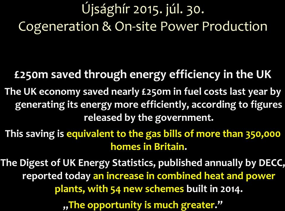 last year by generating its energy more efficiently, according to figures released by the government.