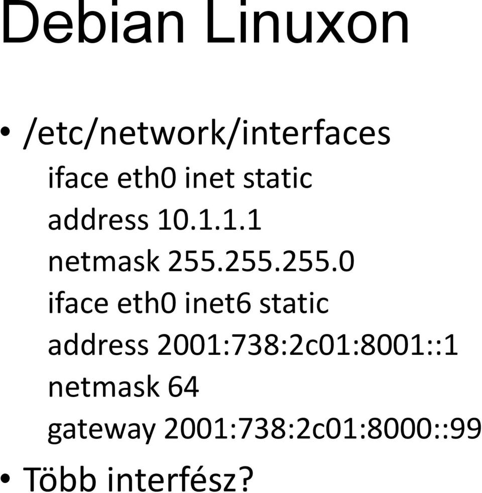 255.255.0 iface eth0 inet6 static address