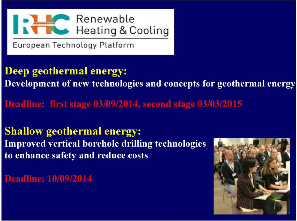 03/03/2015 Shallow geothermal energy: Improved vertical borehole