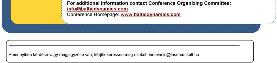 com Conference Homepage: www.balticdynamics.