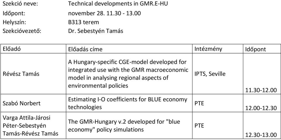 for integrated use with the GMR macroeconomic model in analysing regional aspects of environmental policies Estimating I-O coefficients
