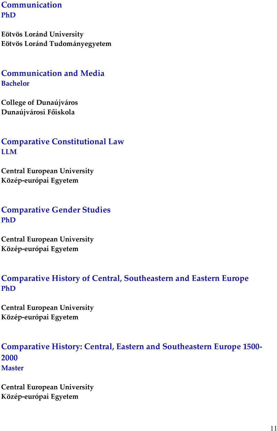 Gender Studies Comparative History of Central, Southeastern and