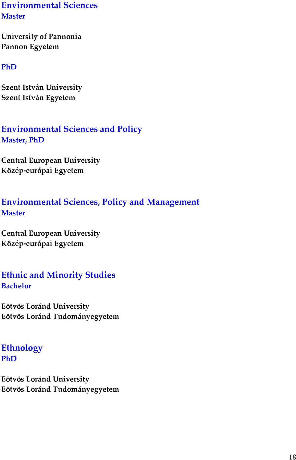 Policy, Environmental Sciences, Policy and