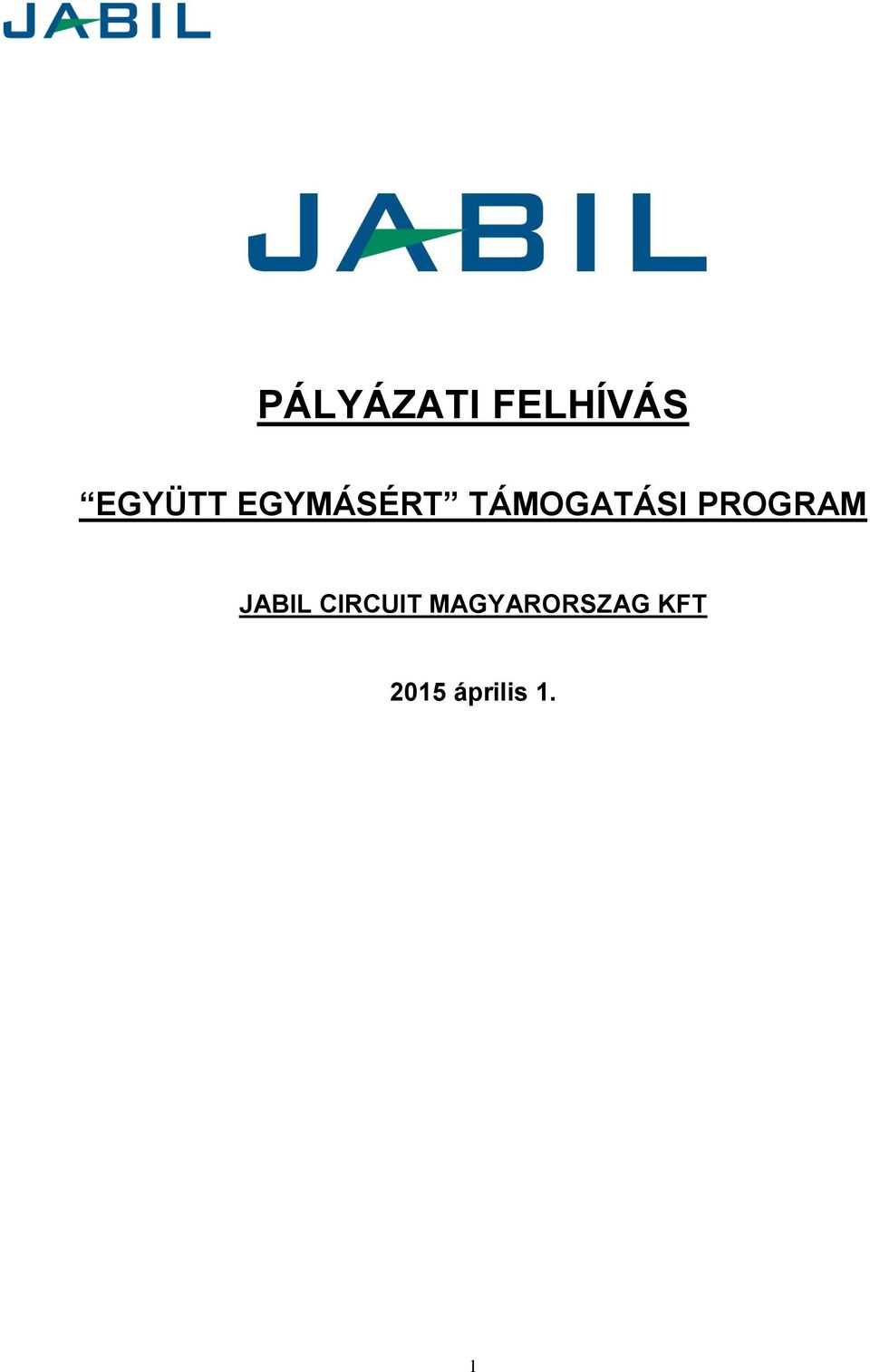 PROGRAM JABIL CIRCUIT