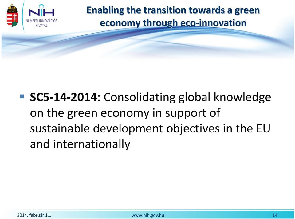 global knowledge onthegreeneconomyinsupportof