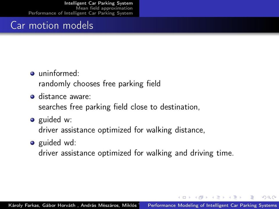 destination, guided w: driver assistance optimized for walking