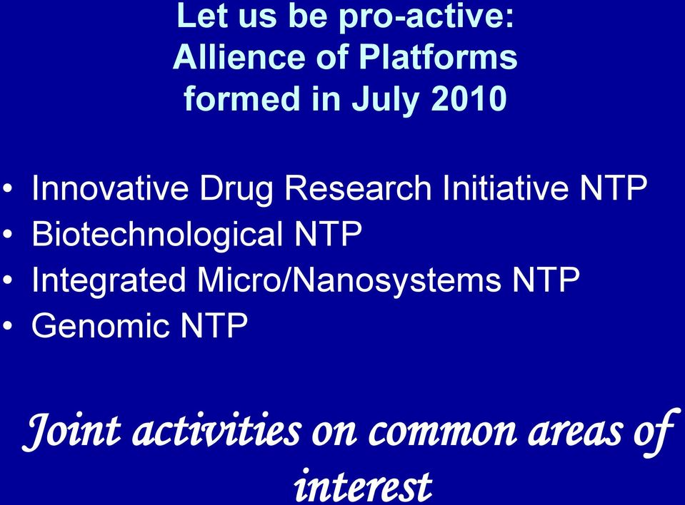 Biotechnological NTP Integrated Micro/Nanosystems