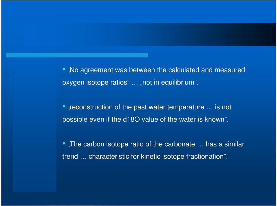 reconstruction of the past water temperature is not possible even if the d18o