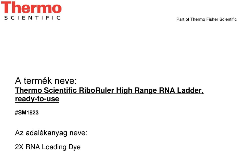 RNA Ladder, ready-to-use