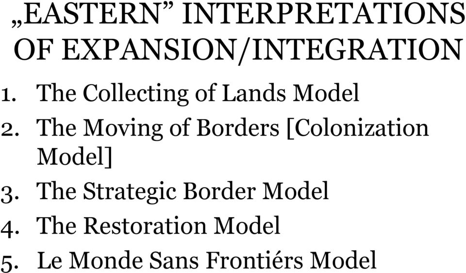 The Moving of Borders [Colonization Model] 3.