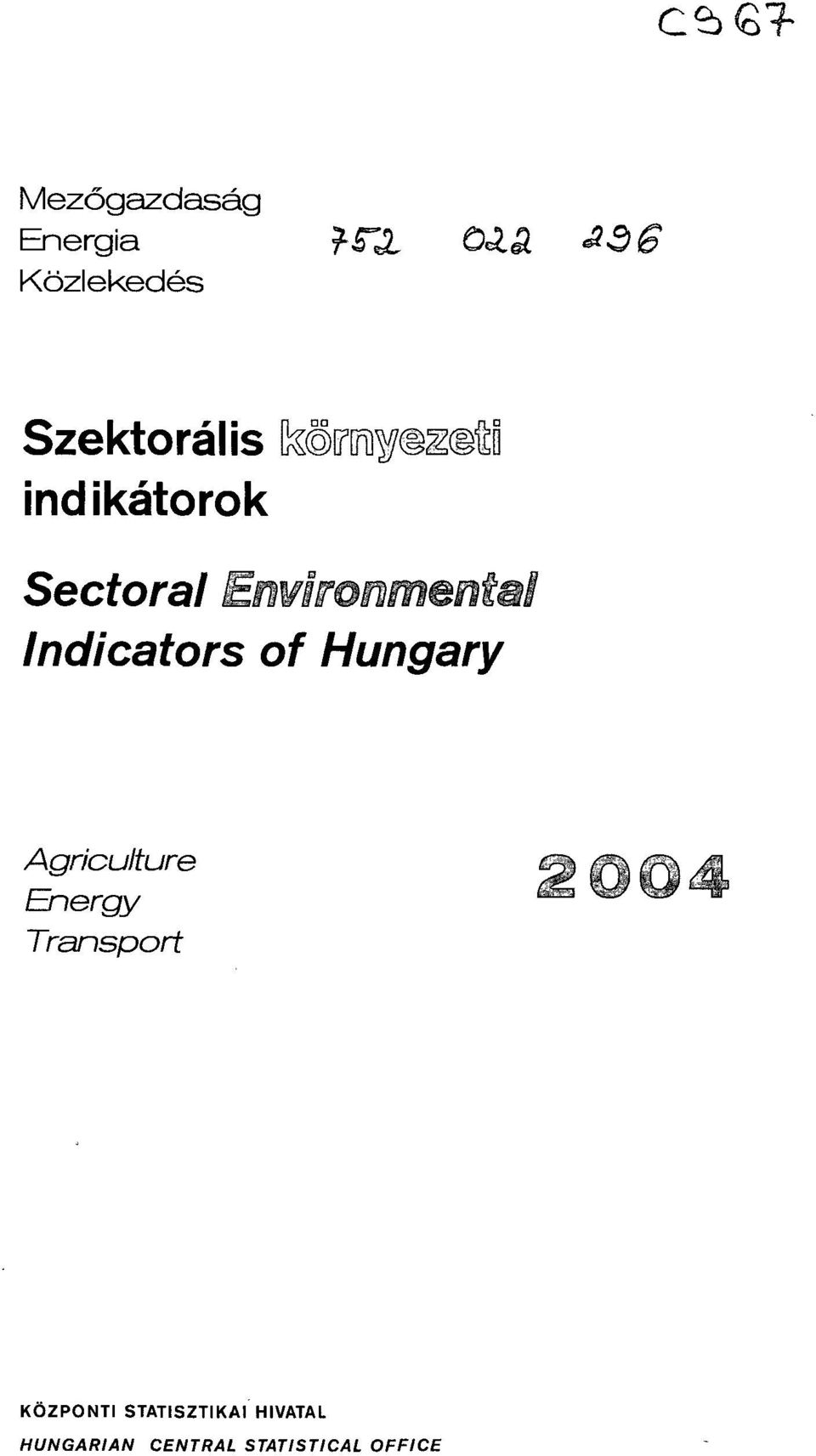 Indicators of Hungary Agriculture Energy