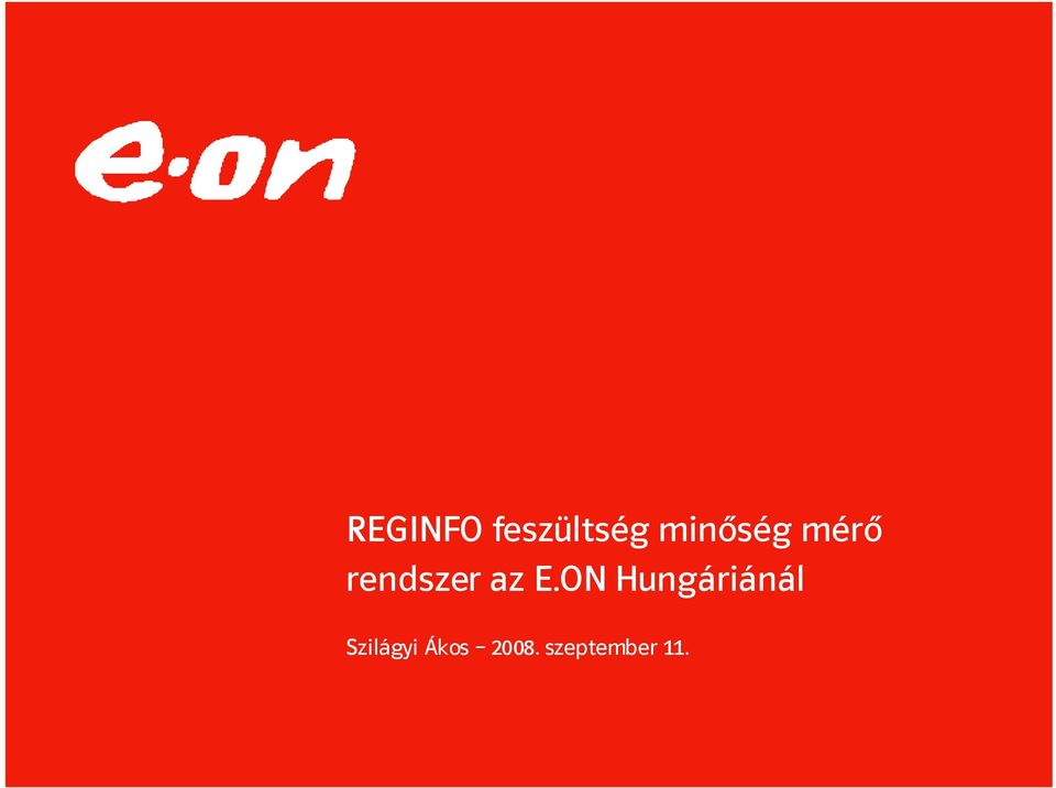 az E.ON Hungáriánál