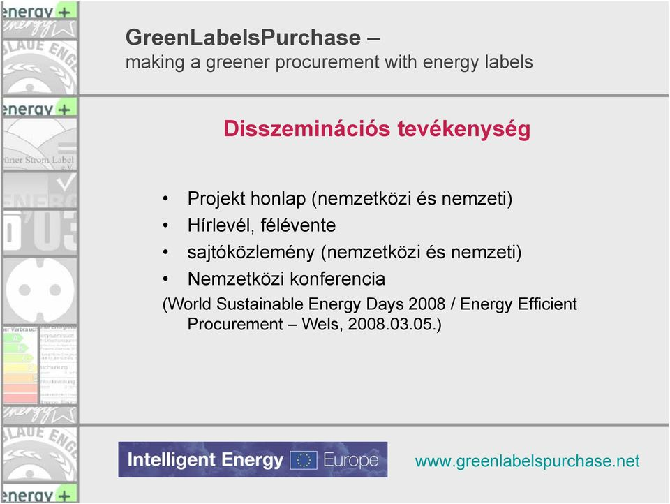 nemzeti) Nemzetközi konferencia (World Sustainable Energy