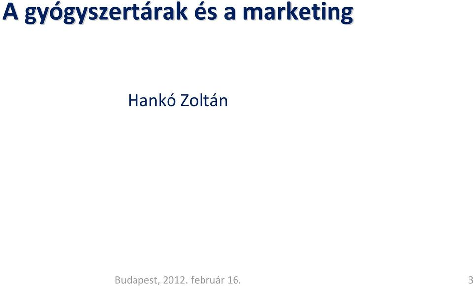 a marketing Hankó