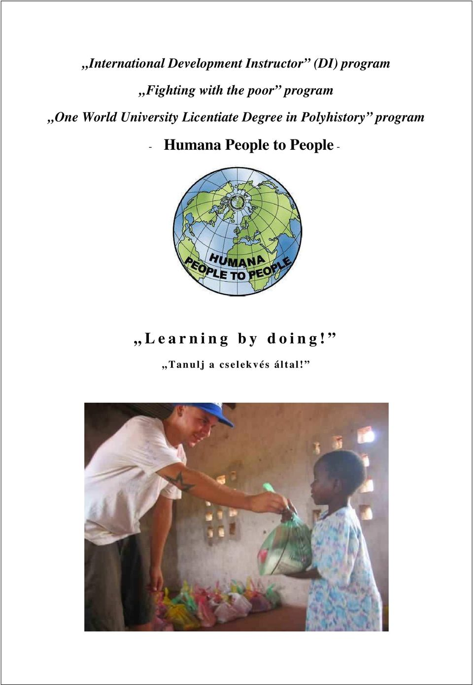 Licentiate Degree in Polyhistory program - Humana People