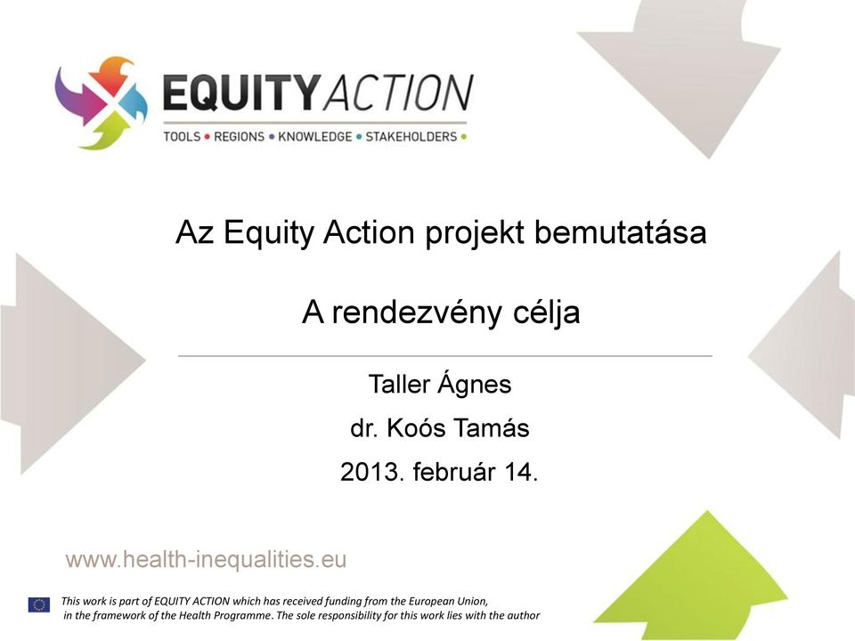 This work is part of EQUITY ACTION which has received funding from the