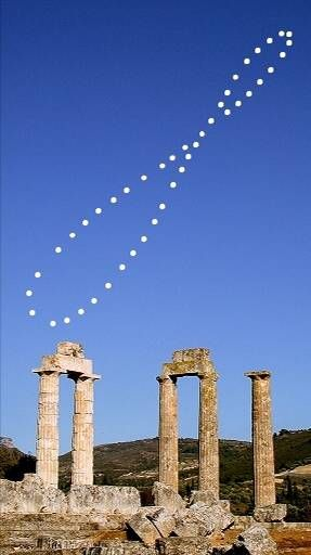 Analemma 10:00:00 UT+2 Jan 07/03 - Dec 20/03 (47+1 kép) Jan 12, 2002 - Dec 21,