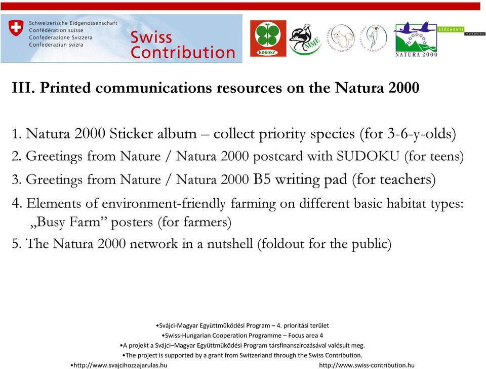 Greetings from Nature / Natura 2000 postcard with SUDOKU (for teens) 3.