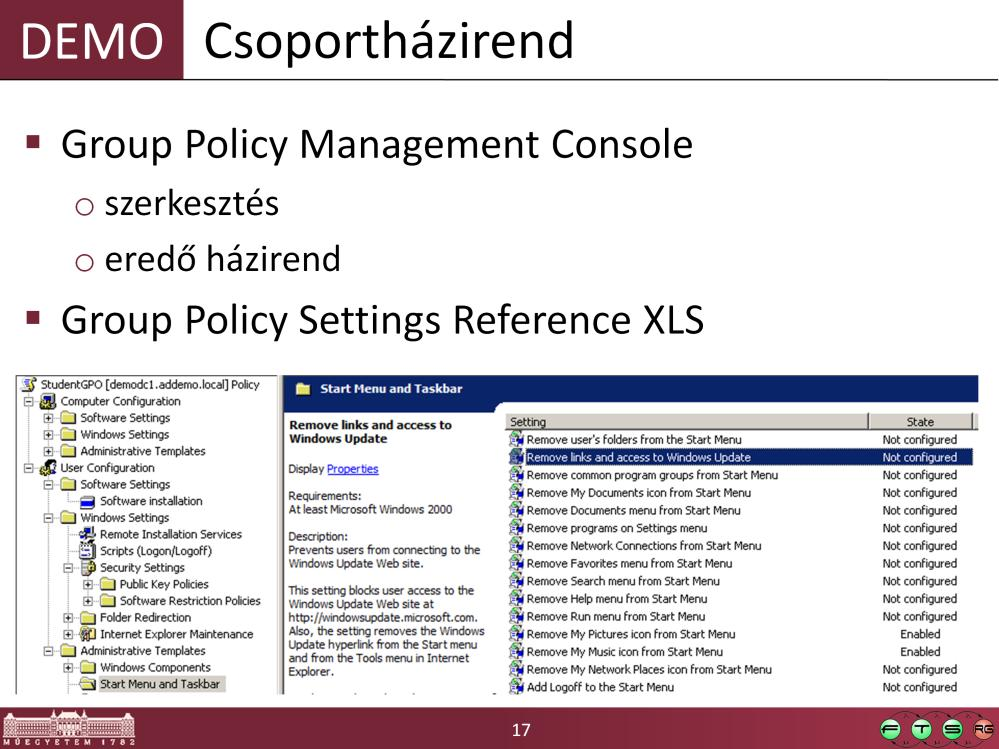 Group Policy Settings Reference for Windows and Windows Server http://www.microsoft.