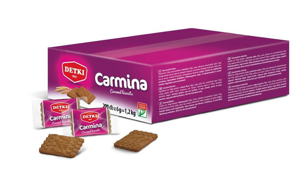 SINGLE PACKED ITEM Single pack caramel biscuit for