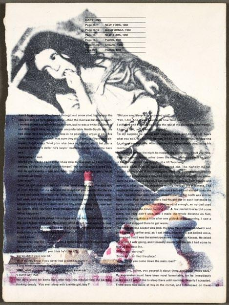 Starting price: 1 450 EUR Altorjay Gábor Éhség / Hunger (1968) frottázs, kollázs, papír / frottage, collage on paper, 29,7 21 cm