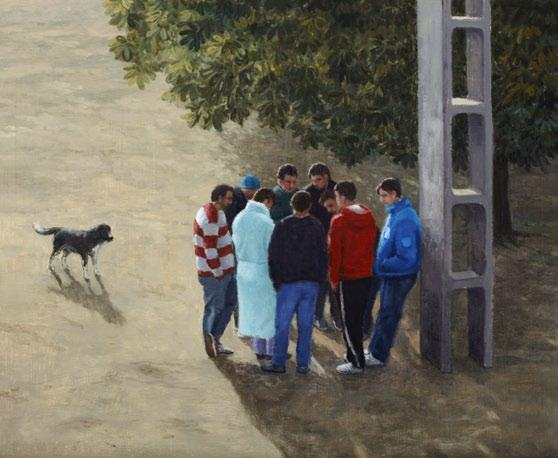 83 84 Şerban Savu Under the Horse-Chestnut (2018) olaj, fatábla / oil on board, 34 41,5 cm Plan B, Cluj/Berlin