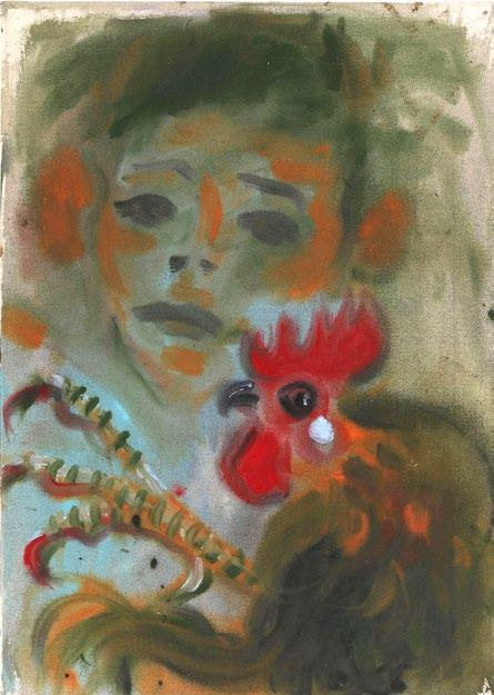 790 EUR Kikiáltási ár: 800 000 Ft / Starting price: 2 520 EUR Andrej DÚBRAVSKY Insecure Boy and his Rooster (2017) akril, vászon / acrylic