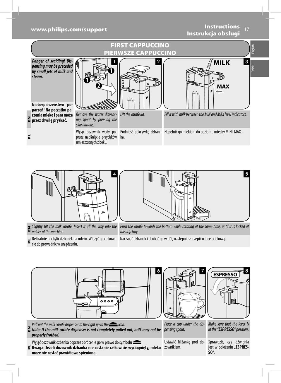 How to clean the steamhot water spout after use on your De